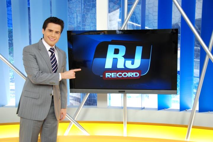 """Bacci quando apresentava o """"RJ Record"""""""